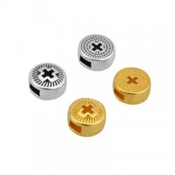 Zamak Slider Round Cross 8mm/4mm (Ø3.2x1.8mm)