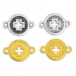 Zamak Connector Round Cross 13mm
