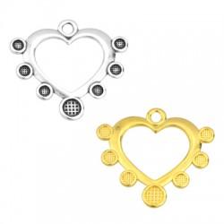 Zamak Pendant Heart SS10 & SS20 settings 33x29mm (Enameling)