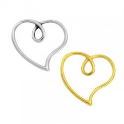 Μεταλλικό Ζάμακ Χυτό Μοτίφ Καρδιά 17x16mm
