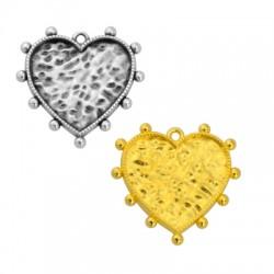 Zamak Pendant Heart 25mm (Suitable also for Enameling)