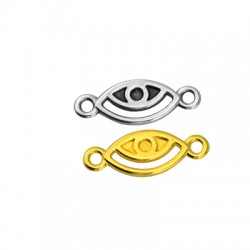 Zamak Connector Evil Eye 13x7mm (Suitable also for Enameling)