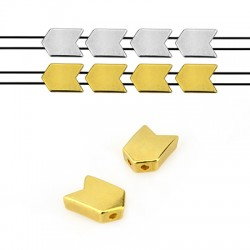 Μεταλλικό Ζάμακ Χυτό Στοιχείο Περαστό Βέλος 8x12mm (Ø1.2mm)