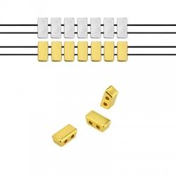 Μεταλλικό Ζάμακ Χυτό Στοιχείο Περαστό 8x4mm (Ø1.2mm)