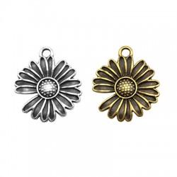 Μεταλλικό Ζάμακ Χυτό Μοτίφ Λουλούδι Μαργαρίτα 18mm