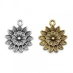 Μεταλλικό Ζάμακ Χυτό Μοτίφ Λουλούδι Ντάλια 19mm