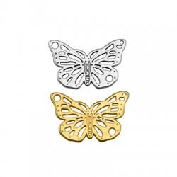 Pendentif papillon en Métal/Zamak 25x16mm