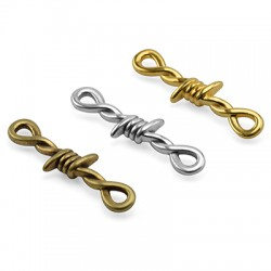 Zamak Pendant Double Knot 9x34mm
