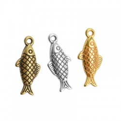 Zamak Charm Fish 9x18mm