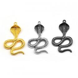 Zamak Pendant Snake Cobra 28x41mm
