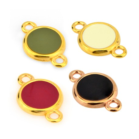 Zamak Connector Round w/ Enamel 16mm
