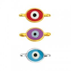 Zamak Connector Oval Eye w/ Enamel 8x9mm