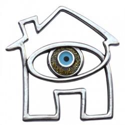 Μεταλλικό Ζάμακ Χυτό Μοτίφ Σπίτι Μάτι με Σμάλτο 59x61mm