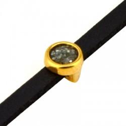 Μεταλλικό Ζάμακ Στρογγυλό Περαστό με Σμάλτο 6mm (Ø3.2x1.7mm)