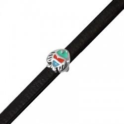 Passante in Zama Pesce Smalato 9mm (Ø 5.2x2.2mm)