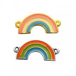 Zamak Connector Rainbow w/ Enamel 21x11mm