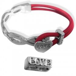 "Z/A Half Bracelet Set 53x30mm + ""Love"" 10x6mm"