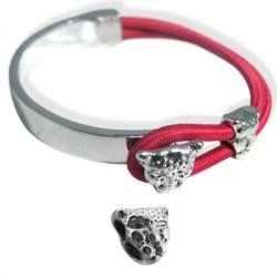"""Z/A Half Bracelet Set 53x31mm + """"Leopard"""" 10x10mm"""