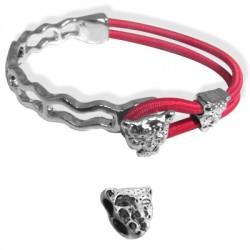 """Z/A Half Bracelet Set 54x33mm + """"Leopard"""" 10x10mm"""