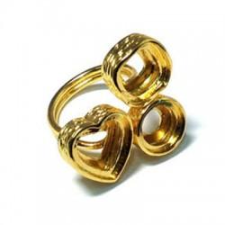 Μεταλλικό Ζάμακ Χυτό Δαχτυλίδι Υποδοχές για Καμπουσόν 25mm