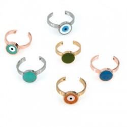 Brass Ring w/ Enamel 20mm