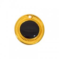 Zamak Pendant Round w/ Enamel 24x27mm (inner 15mm)