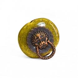 Μεταλλικό Στοιχείο Ακανόνιστο Περαστό Κεφάλι Μαϊμούς 27x30mm