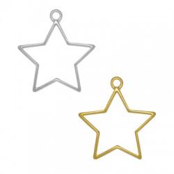 Zamak Pendant Star 31x29mm