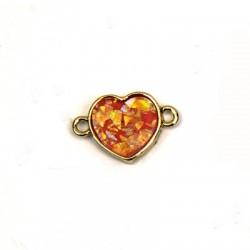 Zamak Art. Opal Connector Heart 21x13mm