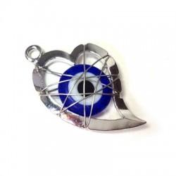 Μεταλλικό Μοτίφ Καρδιά Μάτι με Σύρμα 23mm
