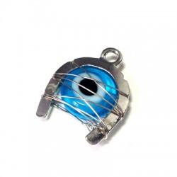 Metal Zamak  with Glass Eye and Wire 17x23mm