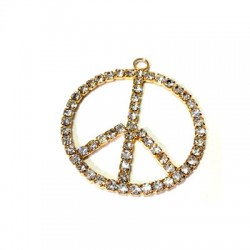 Peace Sign with Strass 20mm
