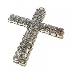 Cross with Strass 67x93mm