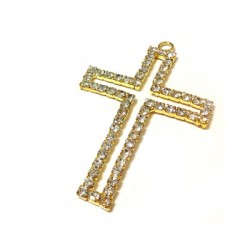 Cross with Strass 47x69mm