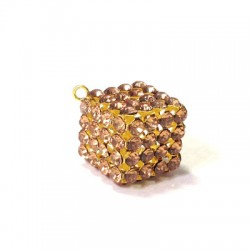 Cube with Strass 16mm