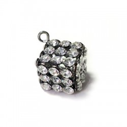 Cube with Strass 12mm