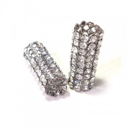 Tube with Strass 13x31mm