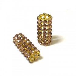 Tube with Strass 10x24mm