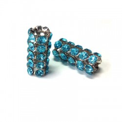 Tube with Strass 8x17mm