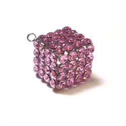 Cube with Strass 20mm