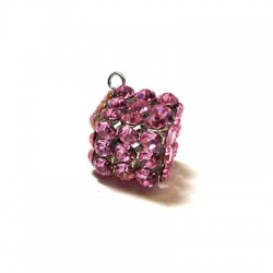 Cube with Strass 17mm