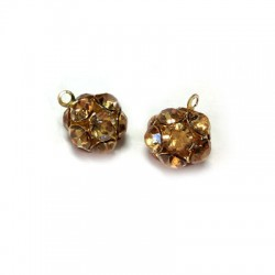 Ball with Strass 10mm