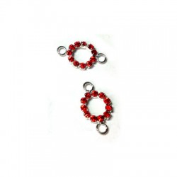 Round with Strass 10mm w/2 Rings