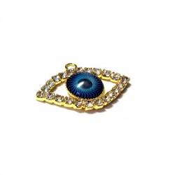 Rhinestone Eye 13x16mm w/ 2 R