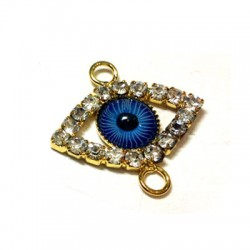 Rhinestone Eye 17.5x23.5mm w/ 2 R