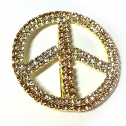 Rhinestone Peace Sign 50mm with Nail