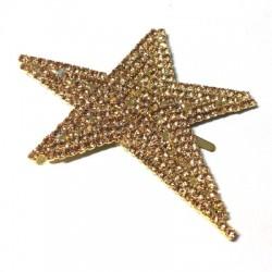 Rhinestone Star 65x47mm with Nail