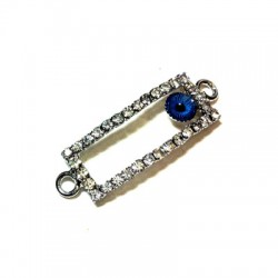 Rhinestone Rectagular 11x28mm