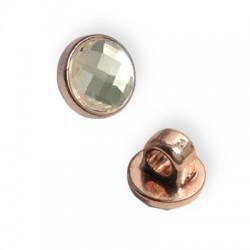 Μεταλλικό Στοιχείο Στρογγυλό με Κρύσταλλο Περαστό 10mm (Ø3.5mm)
