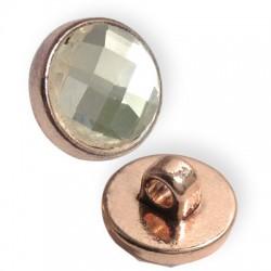 Μεταλλικό Στοιχείο Στρογγυλό Κρύσταλλο Περαστό 16.5mm (Ø3.5mm)